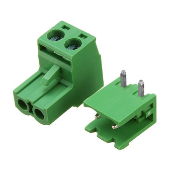 5.08 mm Haakse connector met 2 schroefterminals