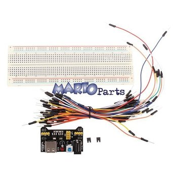Breadboard 830 gaatjes+jumper wires+powermodule