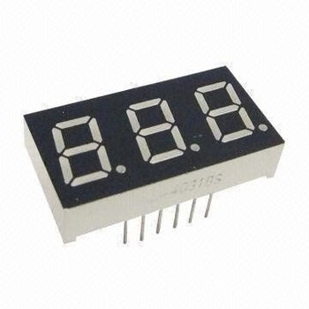 3 digits 7 segmenten LED display rood 0.56