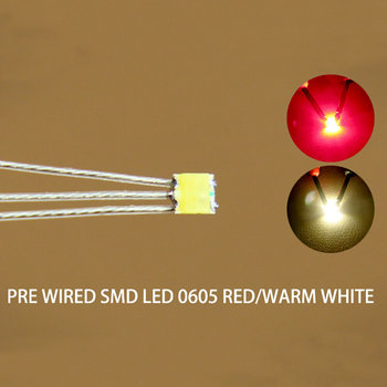 Duo led 0605 rood - warm-wit