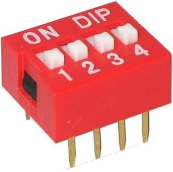Dipswitch 4-polig