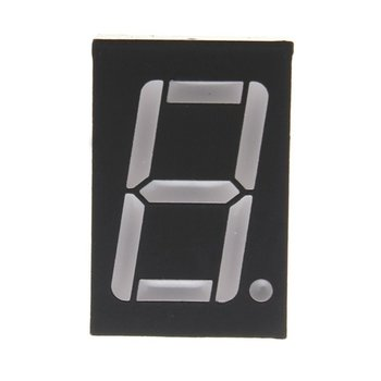 1 digit 7 segmenten LED display rood 0.56