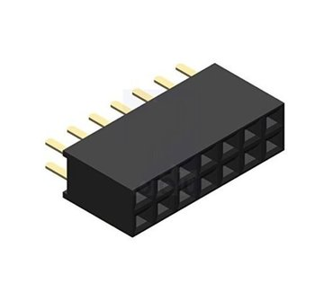 2 x 7 pin female