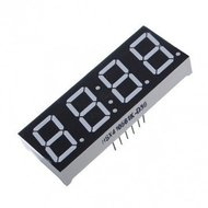 Vier digits 7 segmenten LED display rood